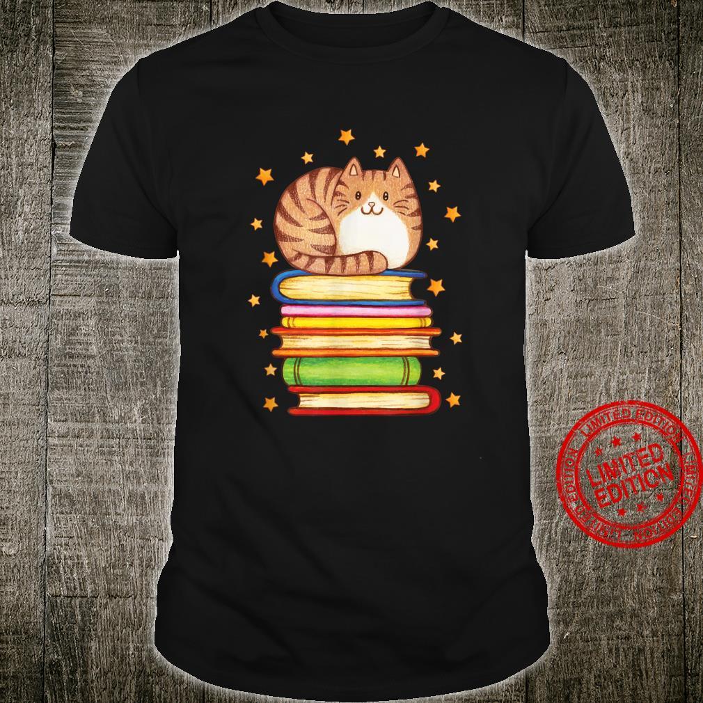 Cute Cat Reading Shirt