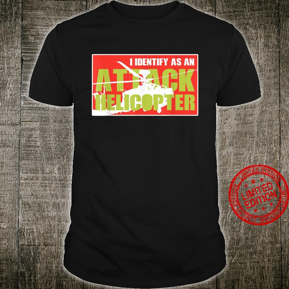 I Identify As An Attack Helicopter Pilot Vintage Shirt