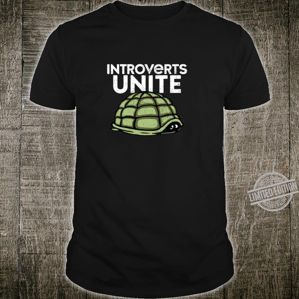 Introvertierte vereinen Schildkrötenpanzer ganz allein im H Shirt