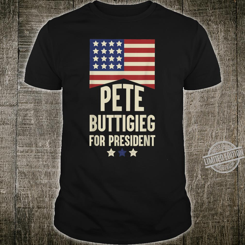 Vote Pete Buttigieg for President 2020 Mens Long Sleeve Crew Neck Pullover