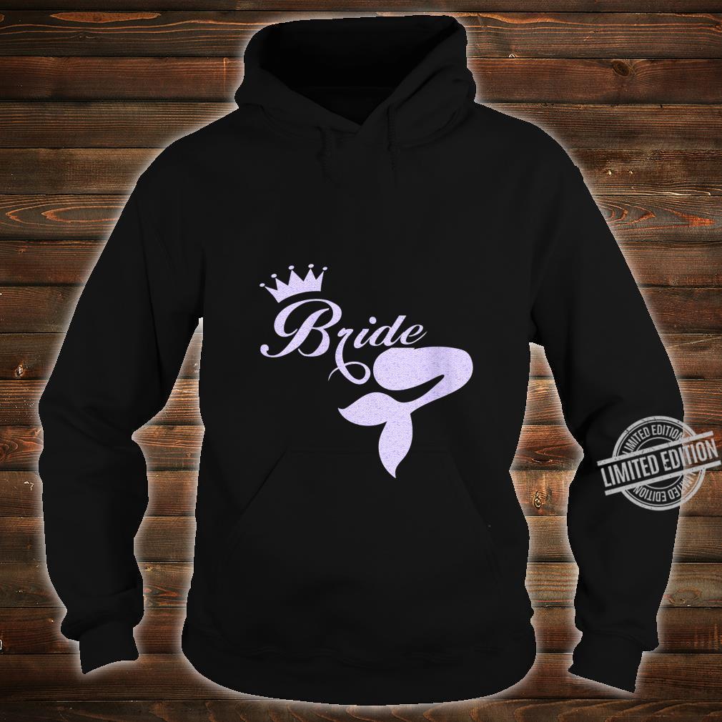 Womens's Beach Mermaid Bride Wedding Shirt hoodie