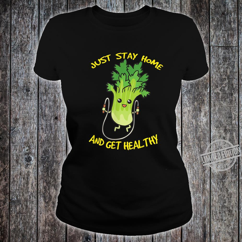 Workout Jump Rope Healthy Celery Gym Shirt ladies tee
