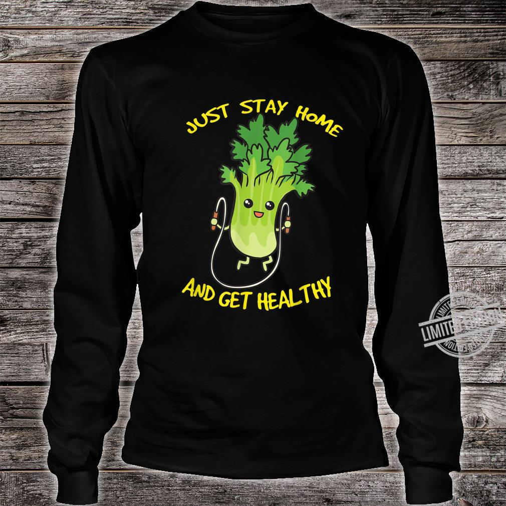 Workout Jump Rope Healthy Celery Gym Shirt long sleeved