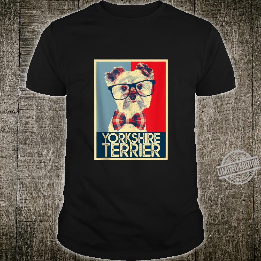 Yorkshire Terrier Yorkie Nerd Pop Art Dog Shirt