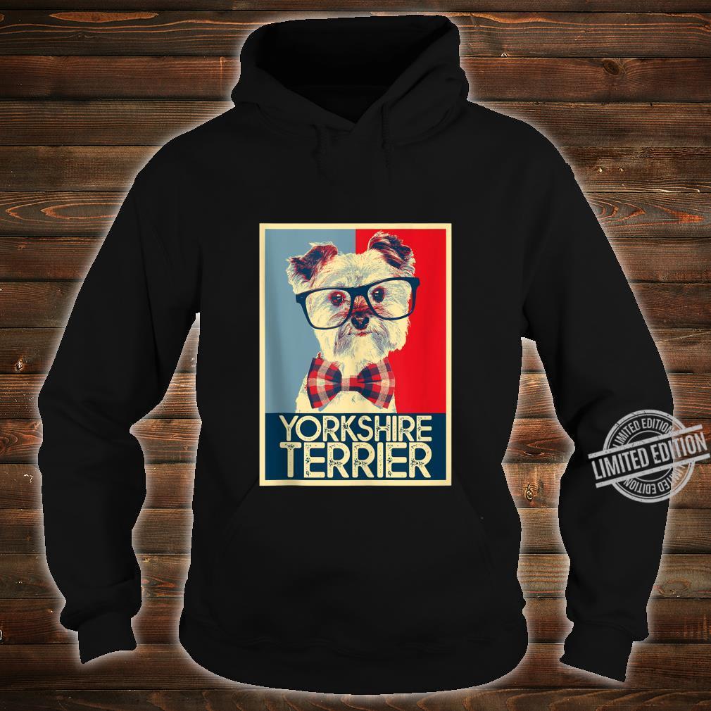 Yorkshire Terrier Yorkie Nerd Pop Art Dog Shirt hoodie