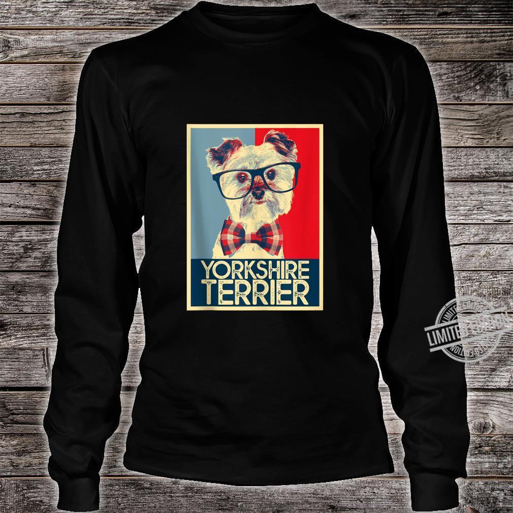 Yorkshire Terrier Yorkie Nerd Pop Art Dog Shirt long sleeved