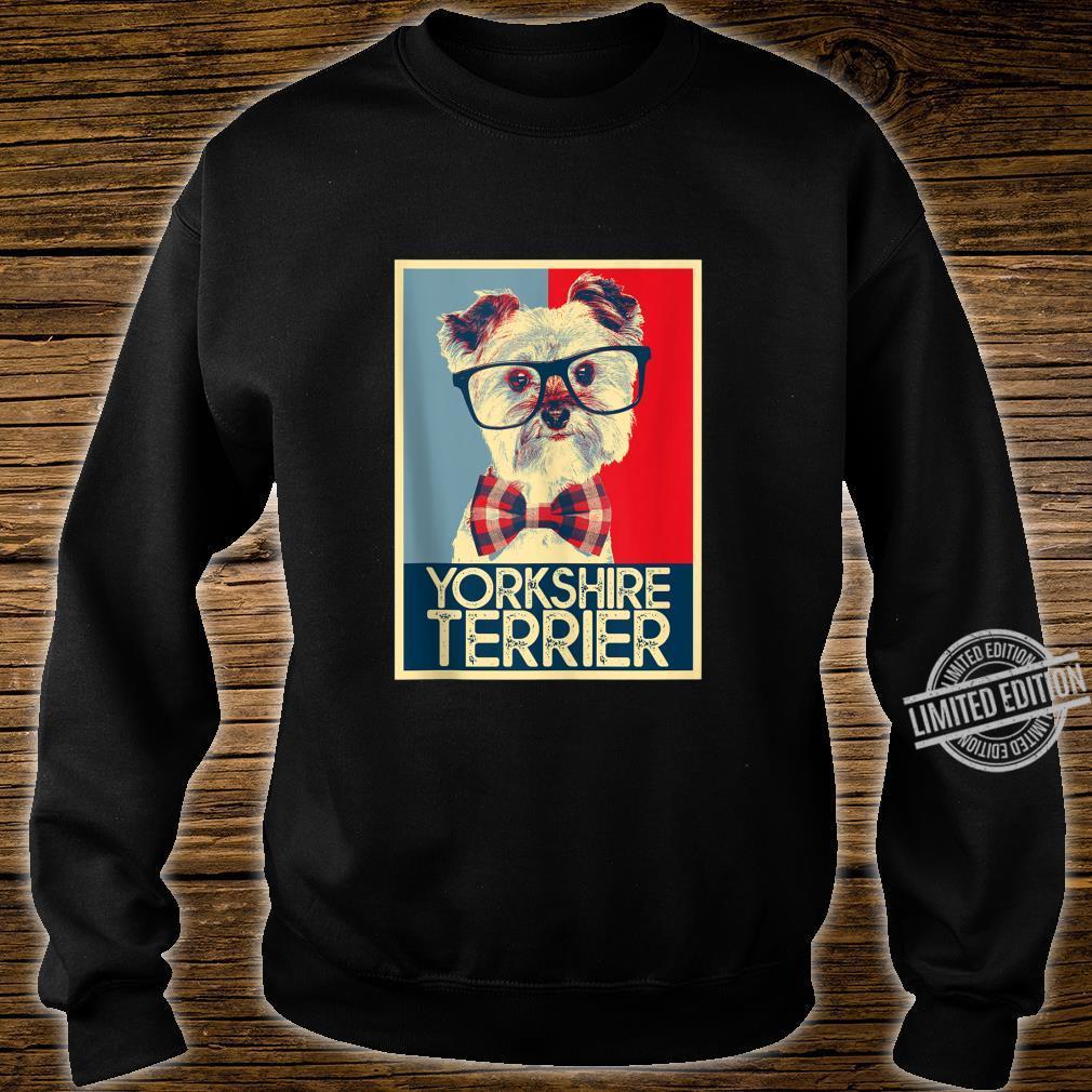 Yorkshire Terrier Yorkie Nerd Pop Art Dog Shirt sweater