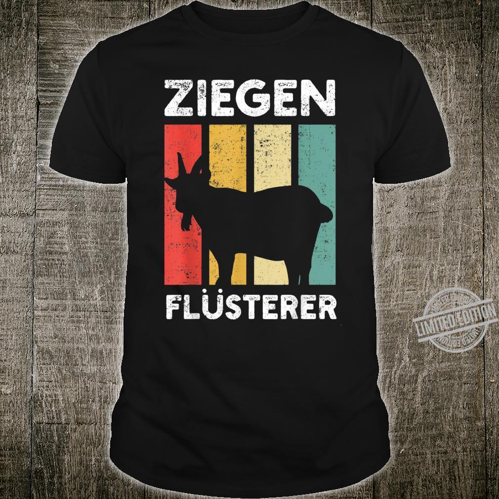 Ziegenflüsterer Ziegen Bock Bauer Bauernhof Land Shirt