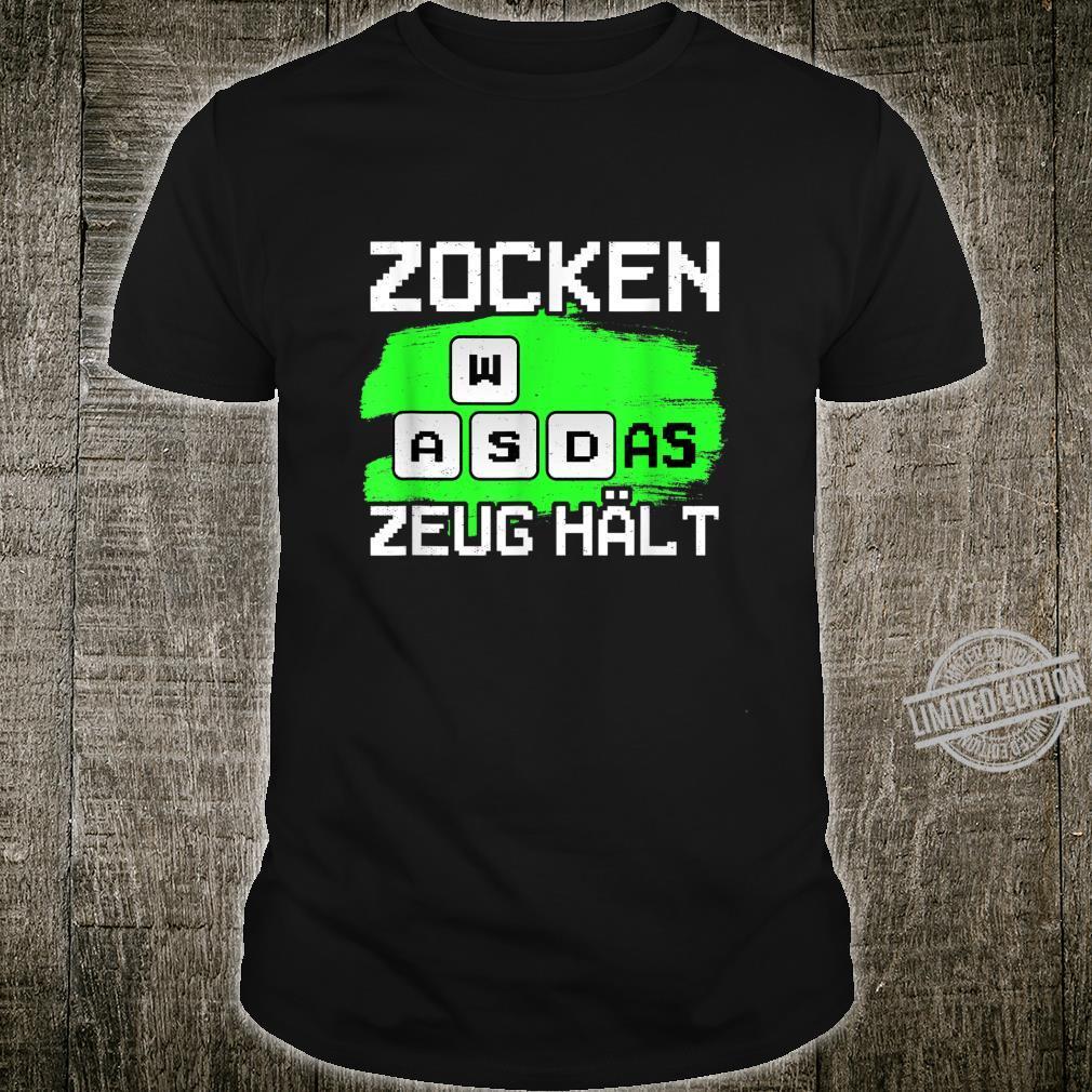 Zocken WASD as Zeug Hält Gaming Gamer Geschenk für Zocker Shirt