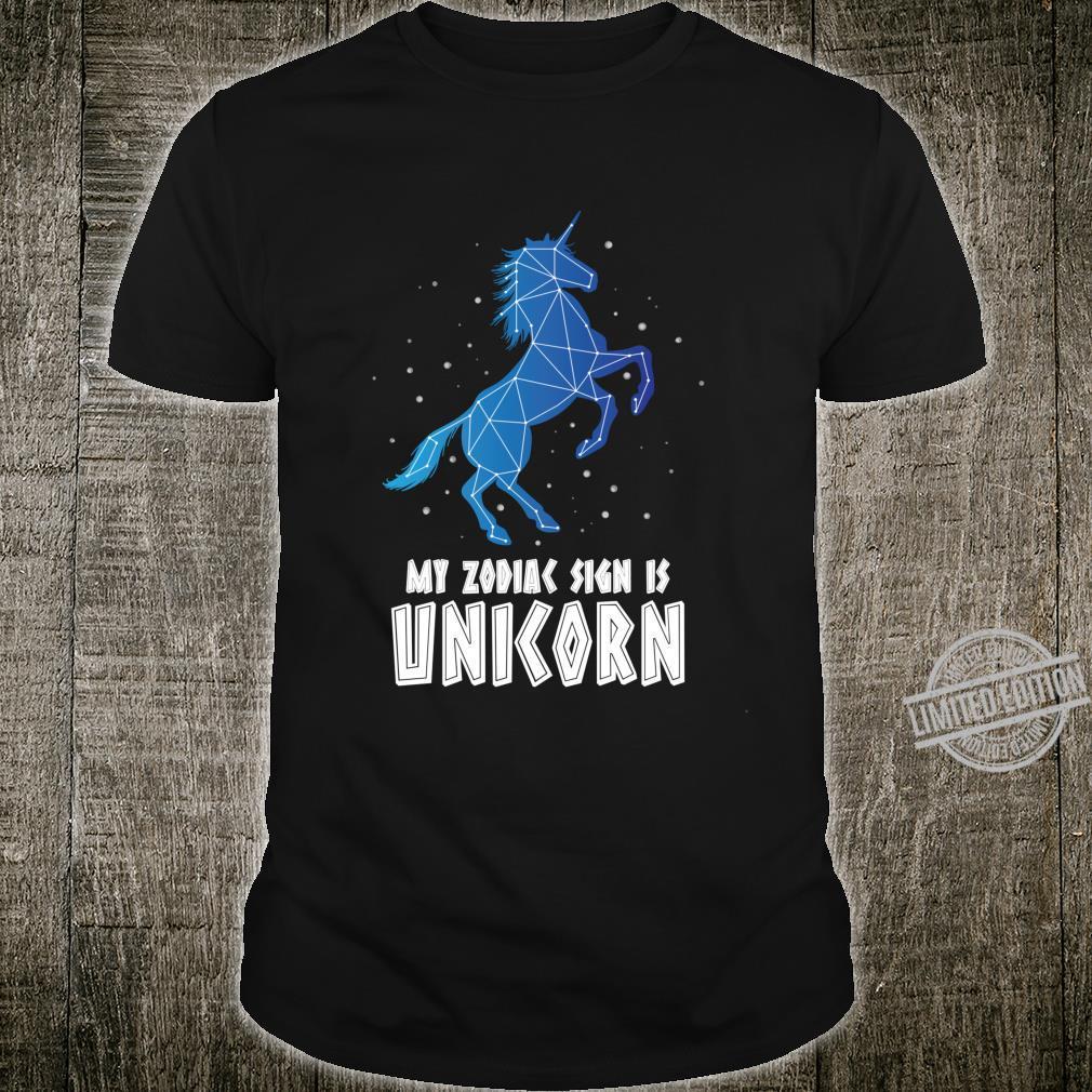 Zodiac Sign Unicorn Constellation Stars Astrology Shirt