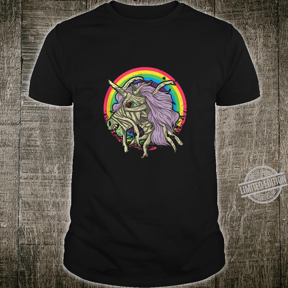 Zombie Mummy Unicorn Idea Rainbow Halloween Shirt