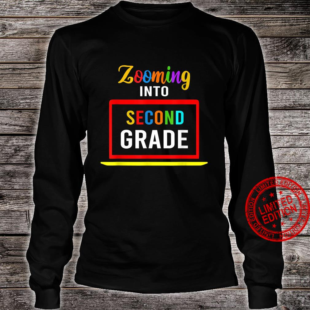 Zooming Into 2nd Second Grade Virtual Back to School 2020 Shirt long sleeved